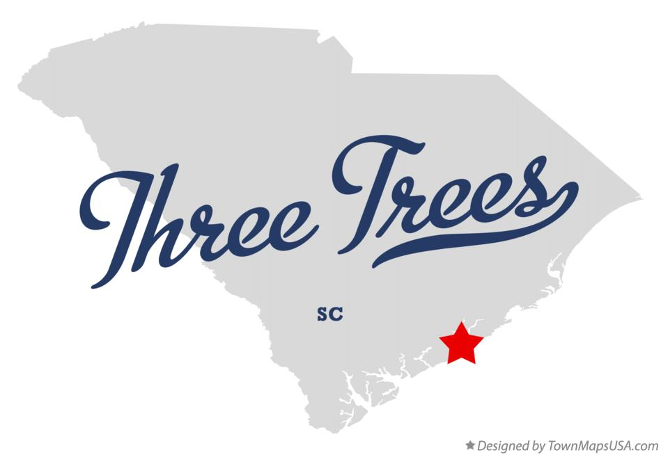 Map of Three Trees South Carolina SC