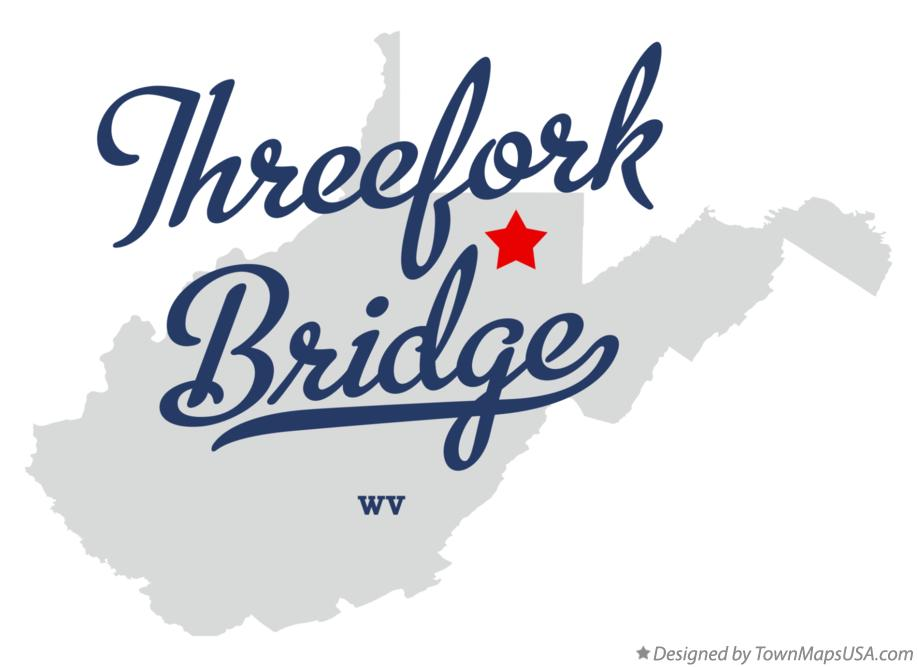 Map of Threefork Bridge West Virginia WV