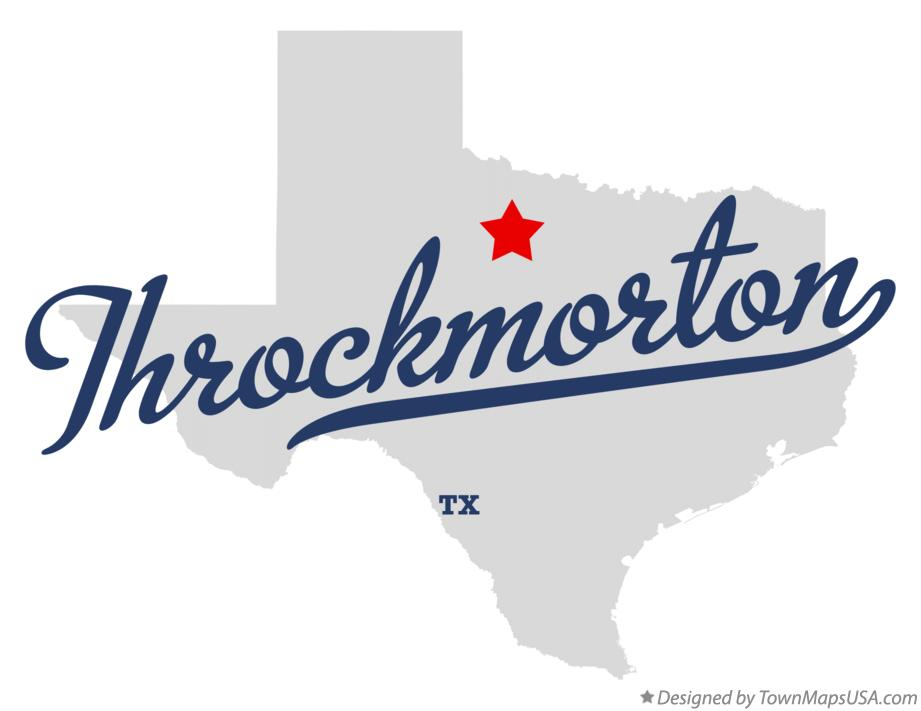 Map of Throckmorton Texas TX