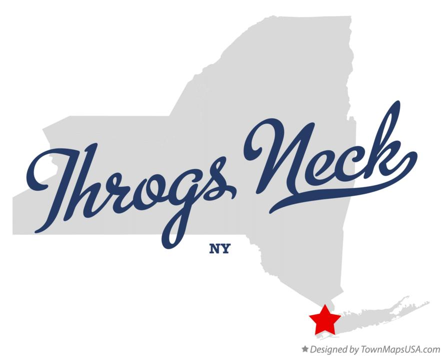 Map of Throgs Neck New York NY