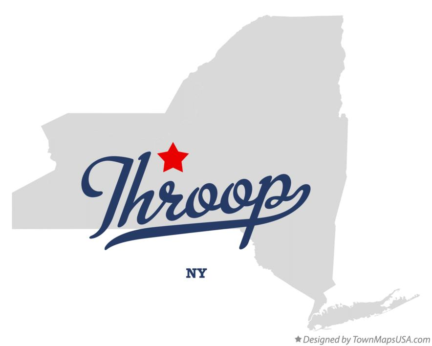 Map of Throop New York NY