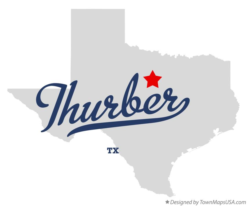 Map of Thurber Texas TX