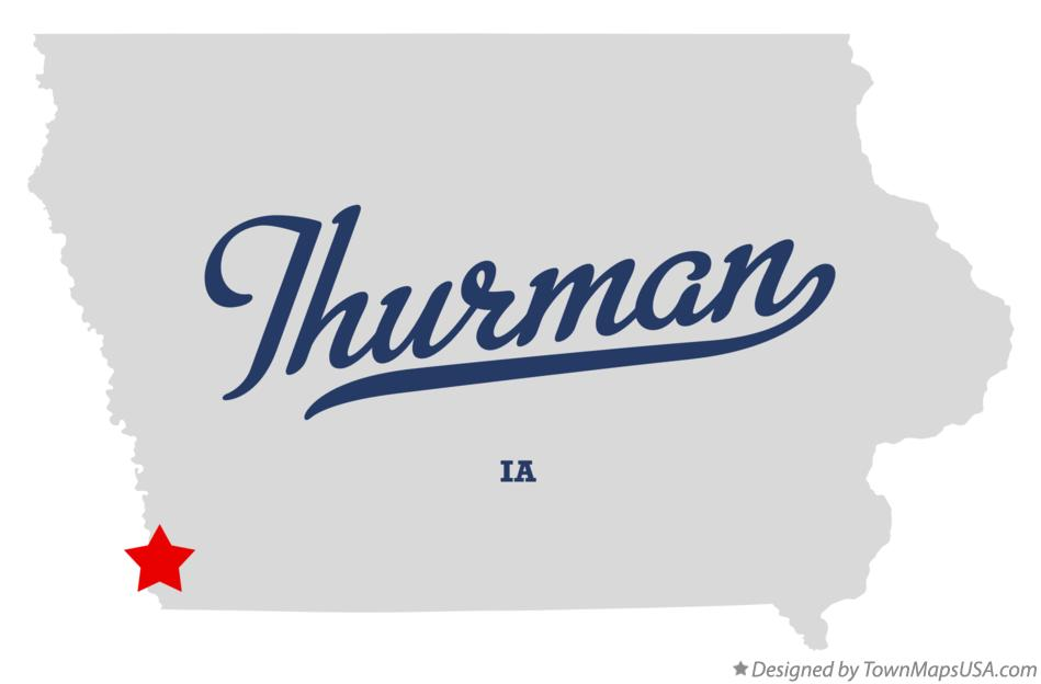 Map of Thurman Iowa IA
