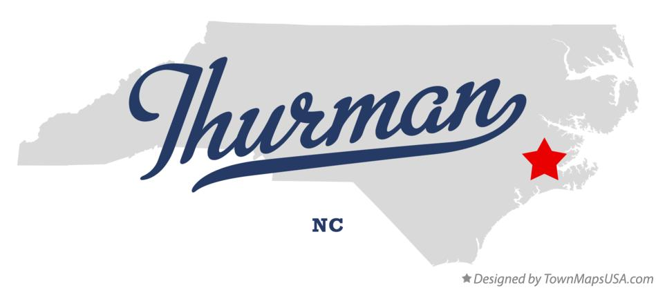Map of Thurman North Carolina NC