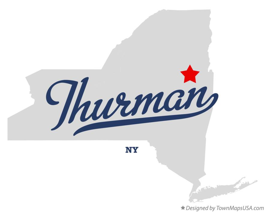 Map of Thurman New York NY