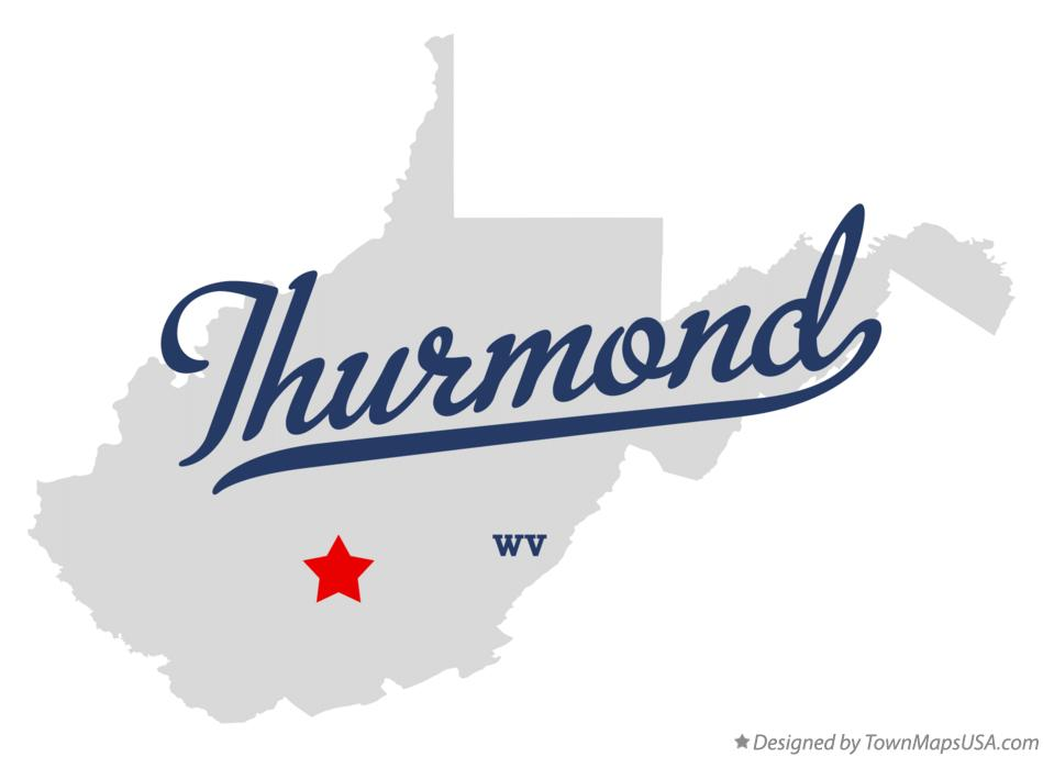 Map of Thurmond West Virginia WV