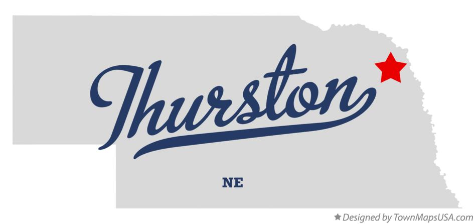 Map of Thurston Nebraska NE