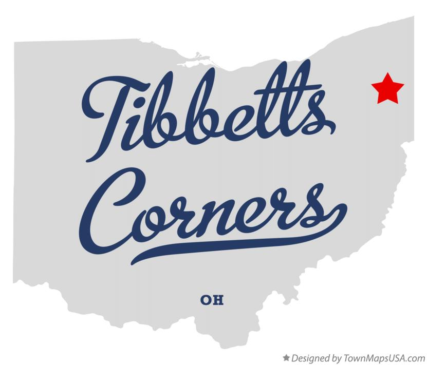 Map of Tibbetts Corners Ohio OH