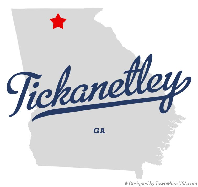 Map of Tickanetley Georgia GA