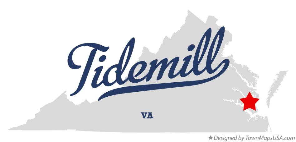 Map of Tidemill Virginia VA