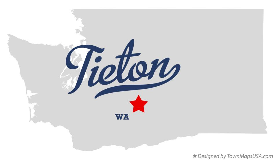 Map of Tieton Washington WA