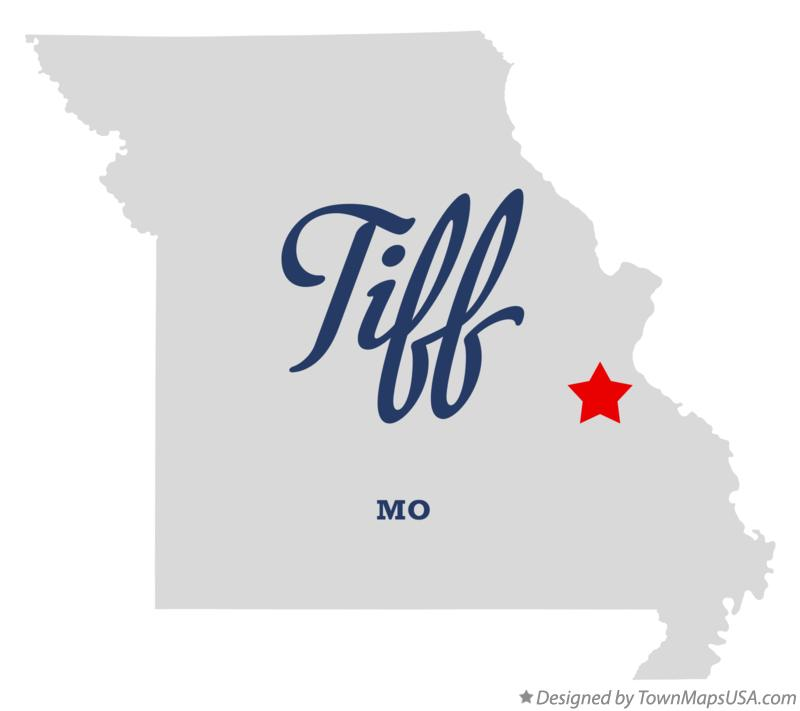 Map of Tiff Missouri MO