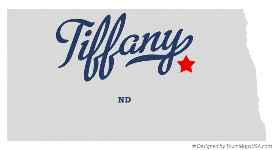 Map of Tiffany North Dakota ND