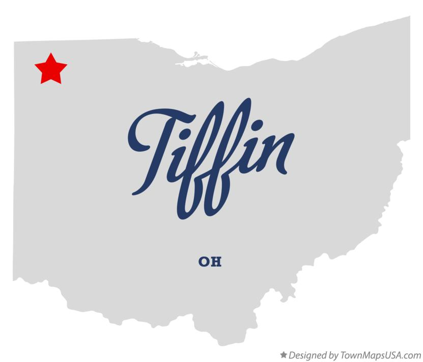 Map of Tiffin Ohio OH