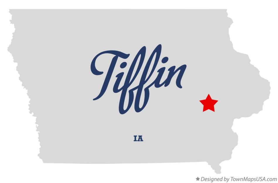 Map of Tiffin Iowa IA