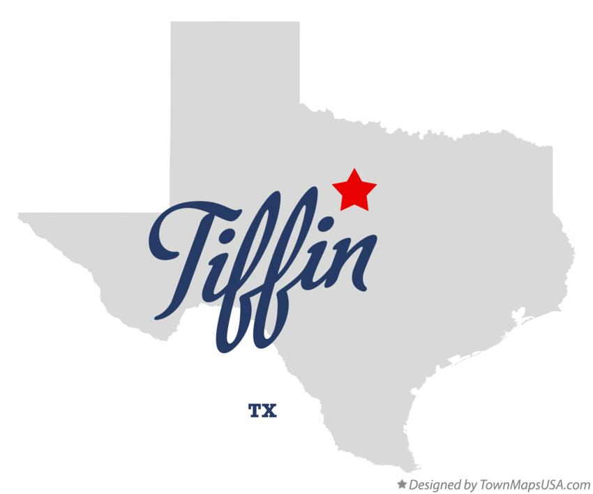 Map of Tiffin Texas TX