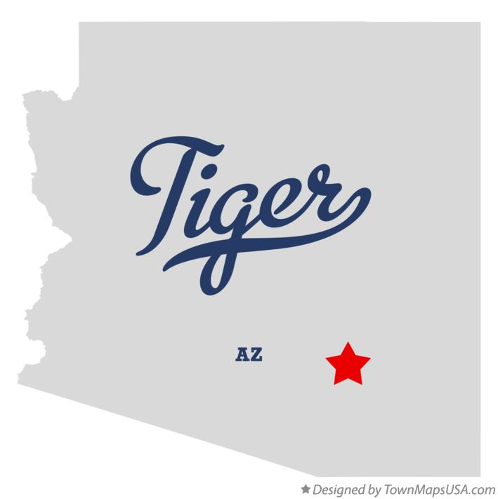 Map of Tiger Arizona AZ