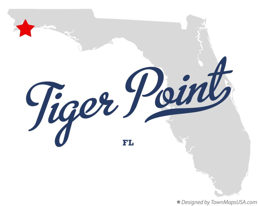Map of Tiger Point Florida FL