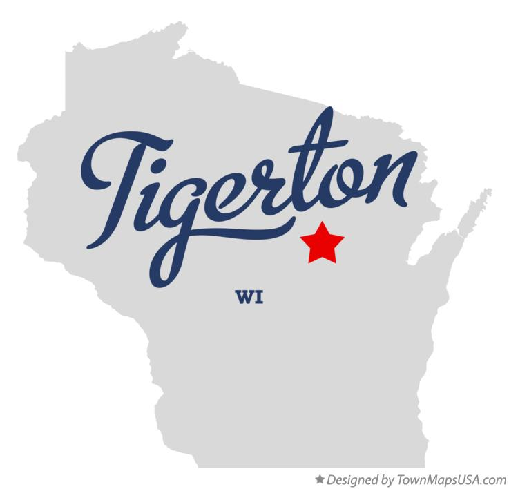 Map of Tigerton Wisconsin WI