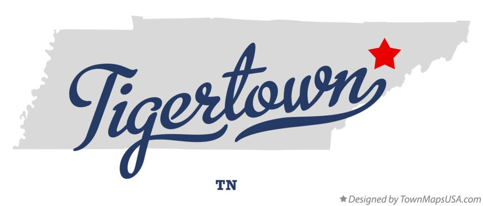 Map of Tigertown Tennessee TN