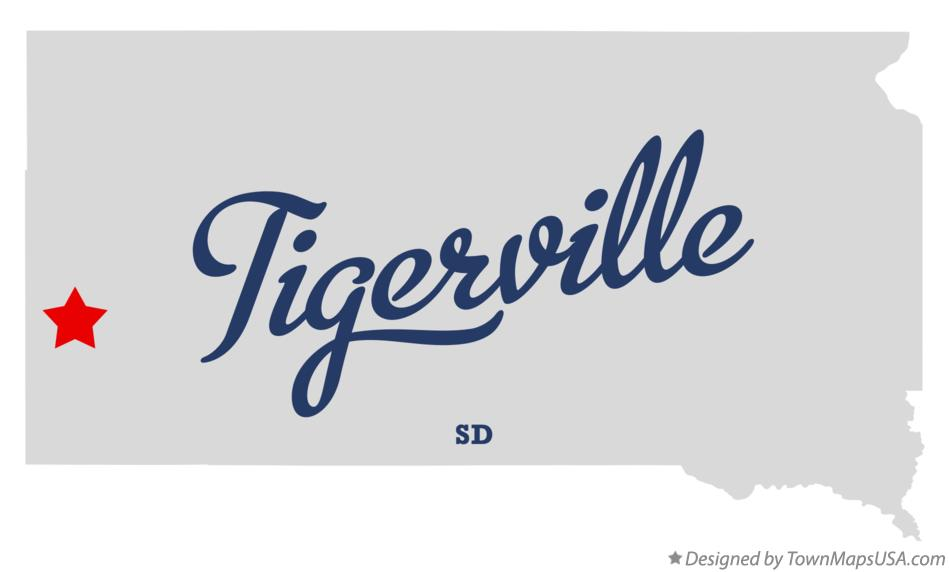 Map of Tigerville South Dakota SD