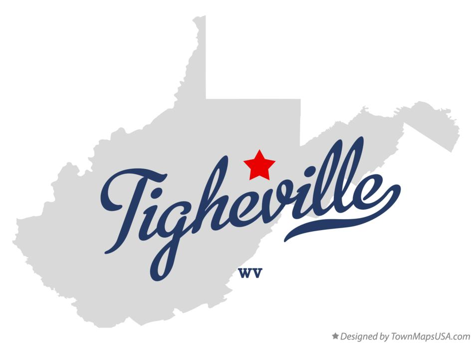Map of Tigheville West Virginia WV