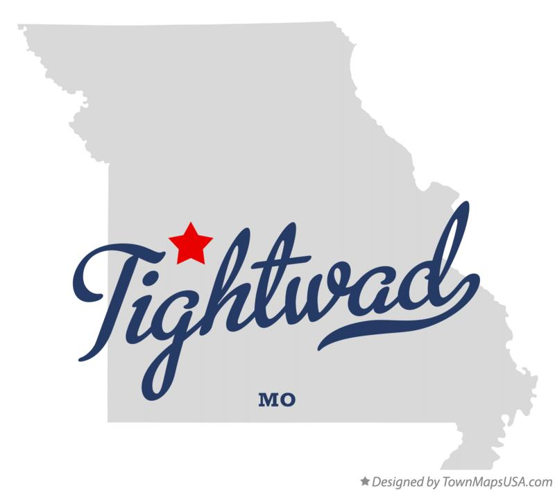 Map of Tightwad Missouri MO