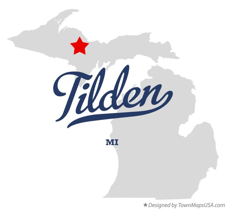 Map of Tilden Michigan MI