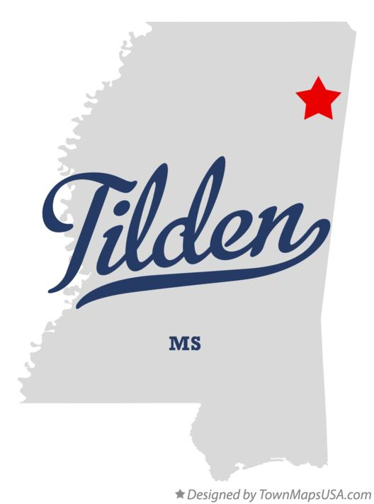 Map of Tilden Mississippi MS
