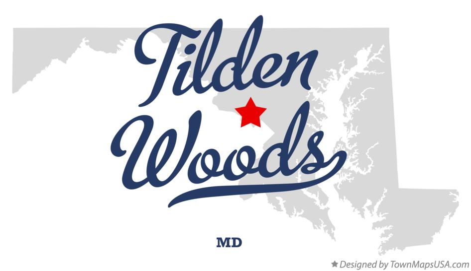 Map of Tilden Woods Maryland MD