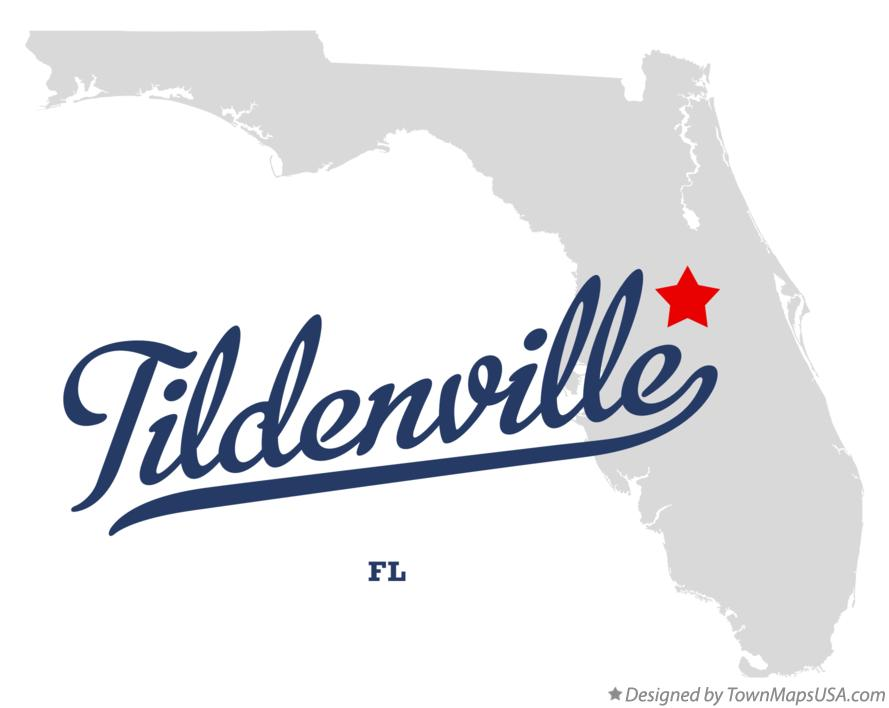 Map of Tildenville Florida FL
