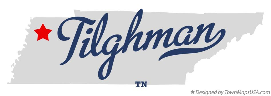 Map of Tilghman Tennessee TN