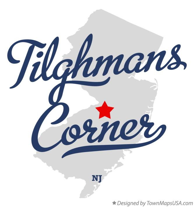 Map of Tilghmans Corner New Jersey NJ