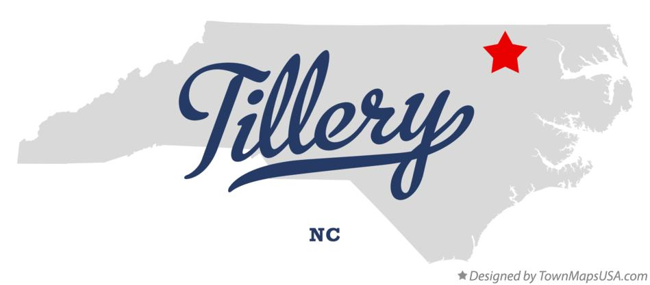 Map of Tillery North Carolina NC