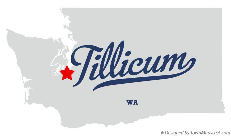 Map of Tillicum Washington WA