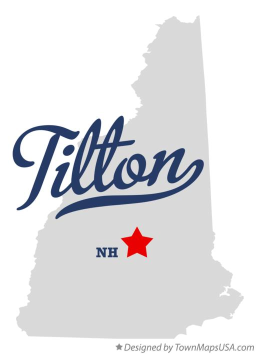 Map of Tilton New Hampshire NH