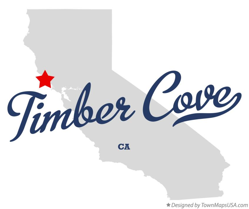 Map of Timber Cove California CA