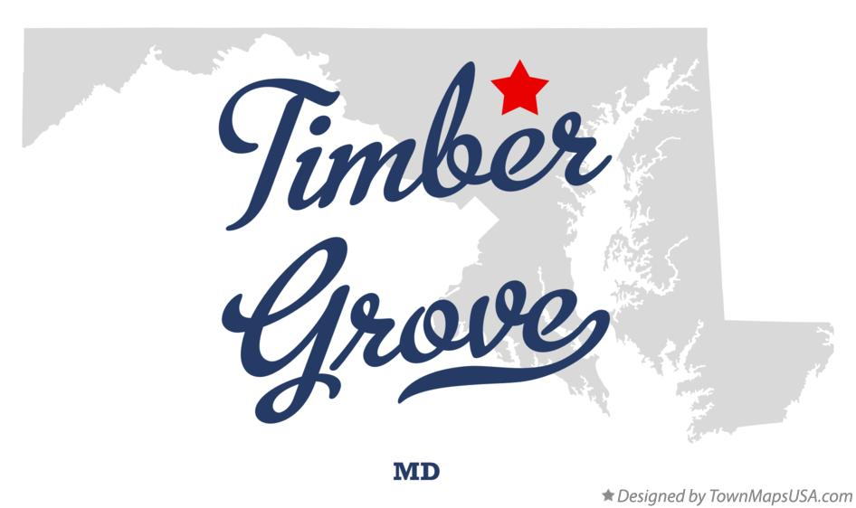 Map of Timber Grove Maryland MD