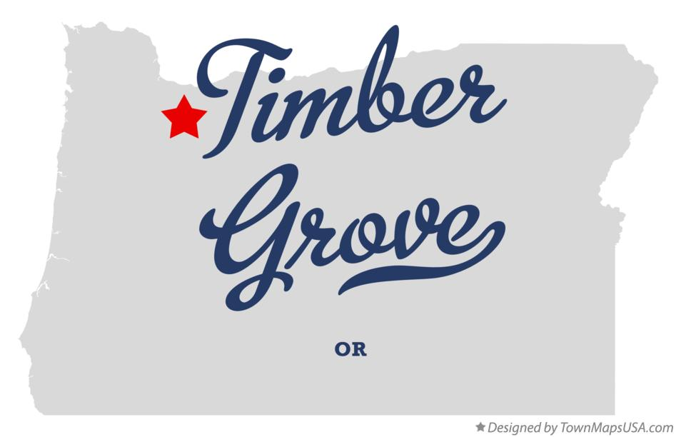 Map of Timber Grove Oregon OR