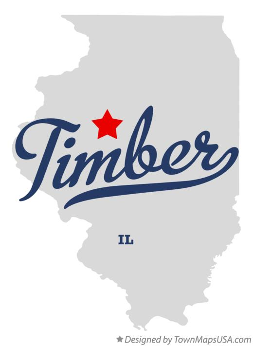 Map of Timber Illinois IL