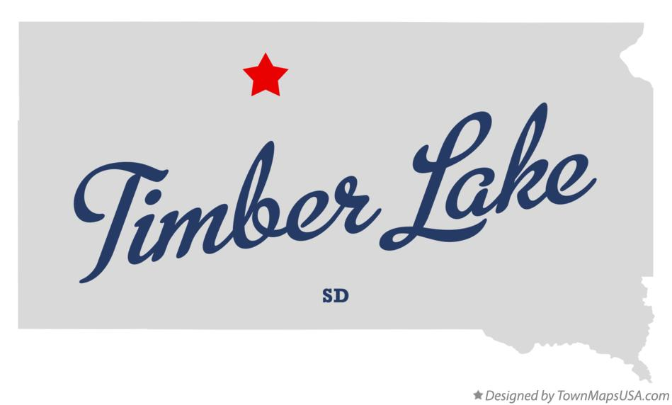 Map of Timber Lake South Dakota SD