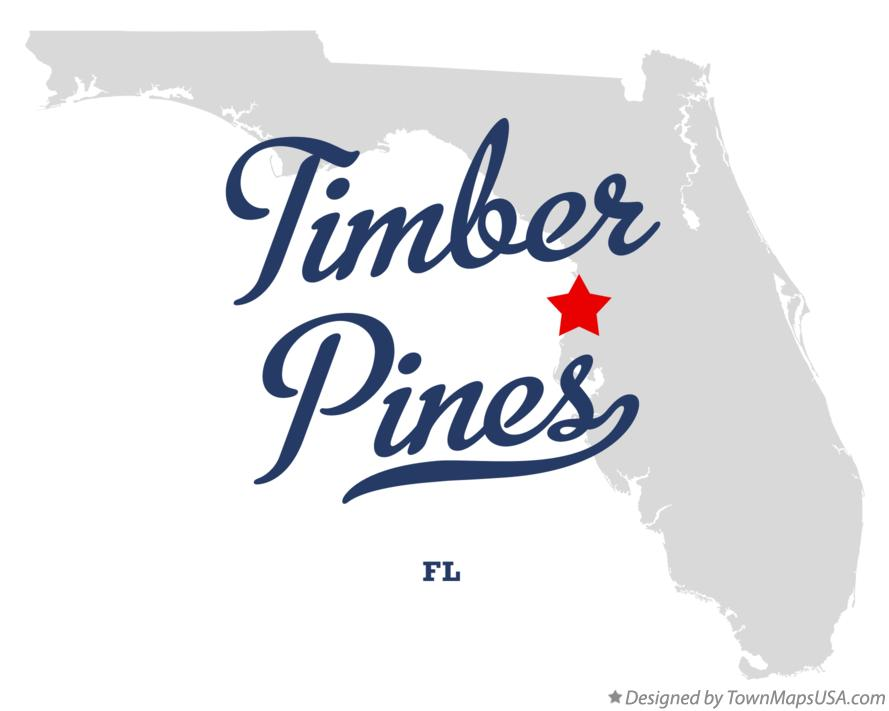 Map Of Timber Pines Fl Florida