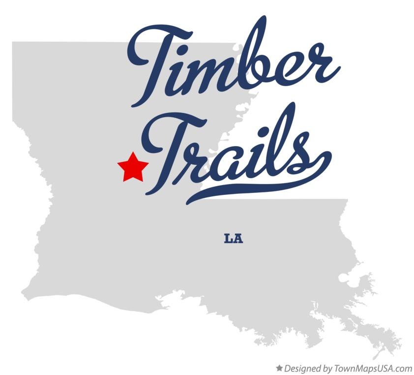 Map of Timber Trails Louisiana LA