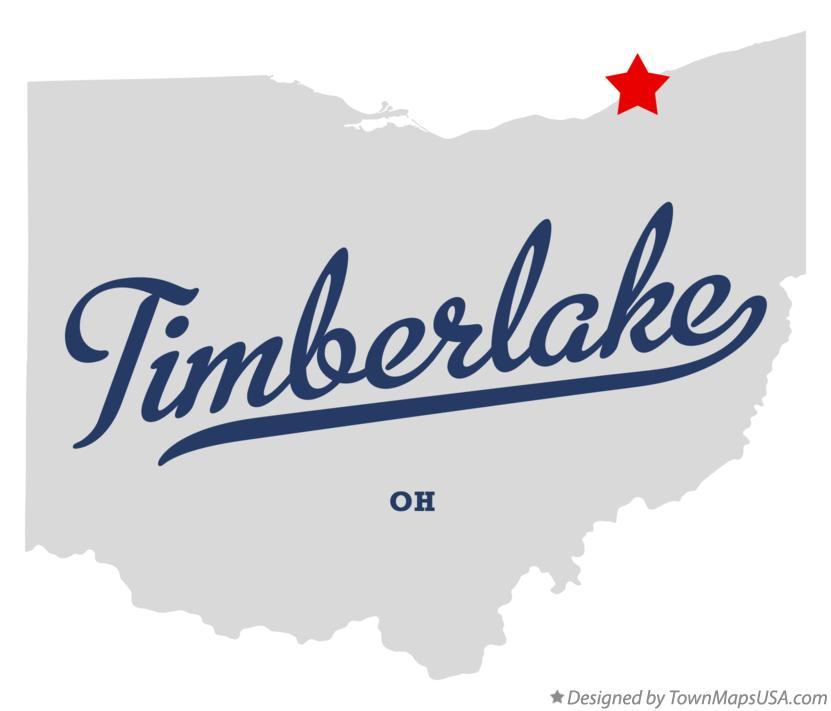 Map of Timberlake Ohio OH