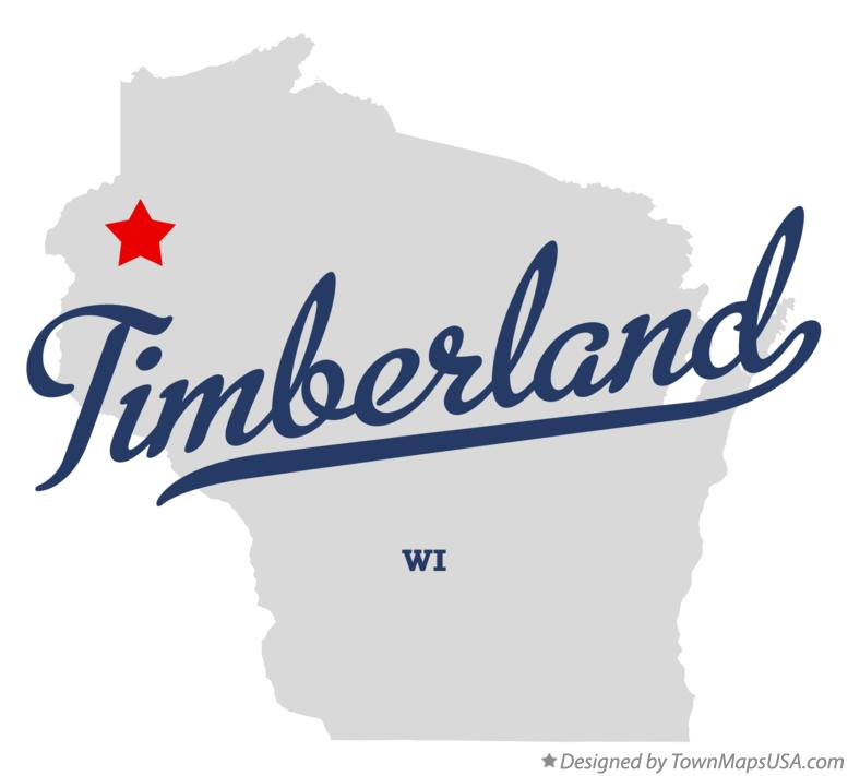 Map of Timberland Wisconsin WI