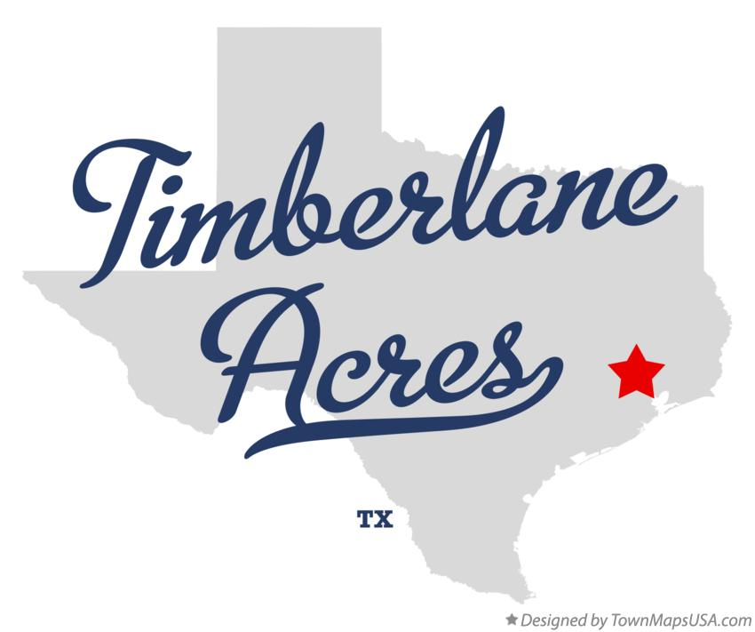 Map of Timberlane Acres Texas TX