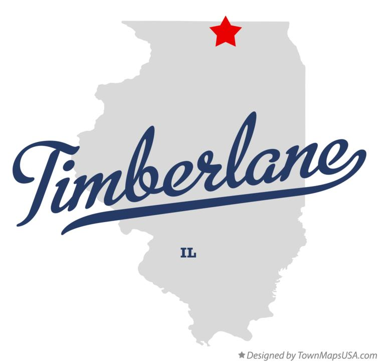 Map of Timberlane Illinois IL