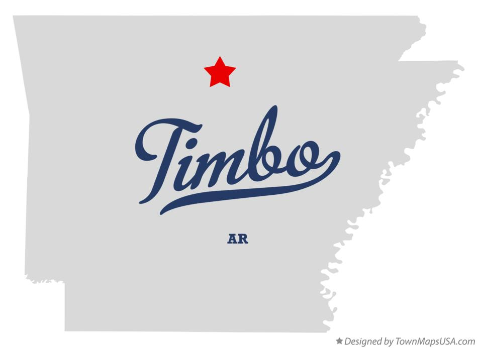 Map of Timbo Arkansas AR