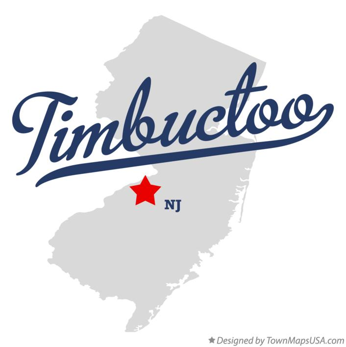 Map of Timbuctoo New Jersey NJ