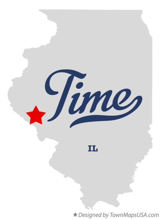 Map of Time Illinois IL